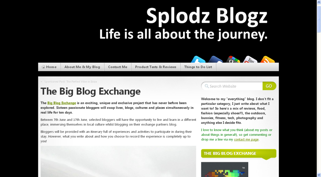 Splodz Blogz » The Big Blog Exchange