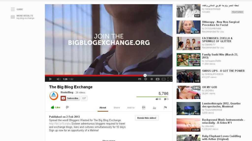 The Big Blog Exchange - YouTube
