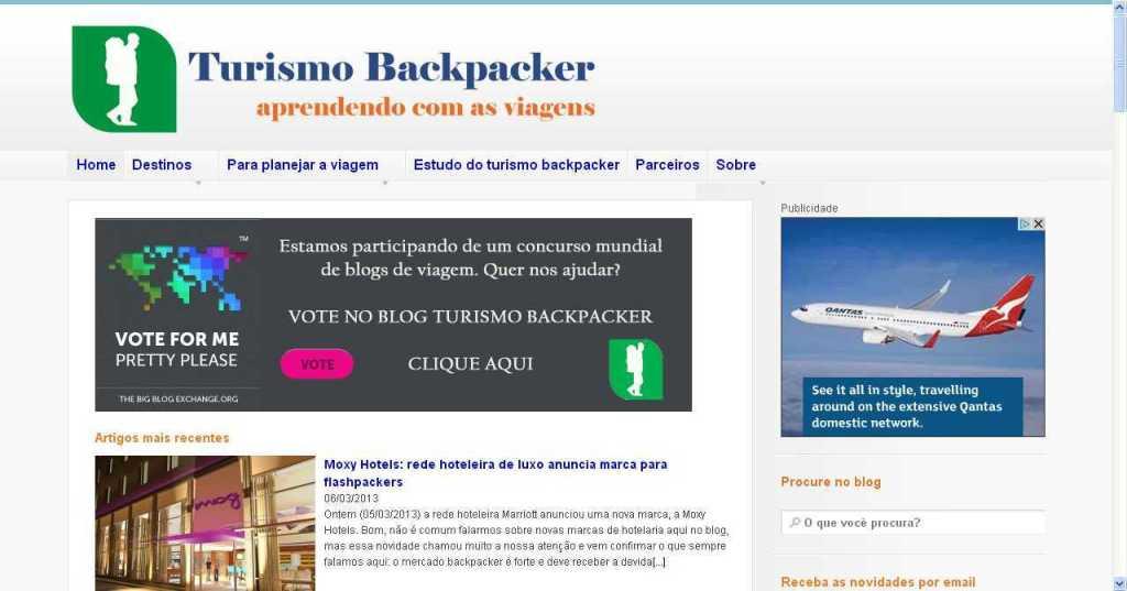 Turismo Backpacker - Blog de viagem de mochilão e estudo do turismo mochileiro