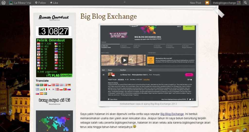 Big Blog Exchange - La Rêveur Vrai