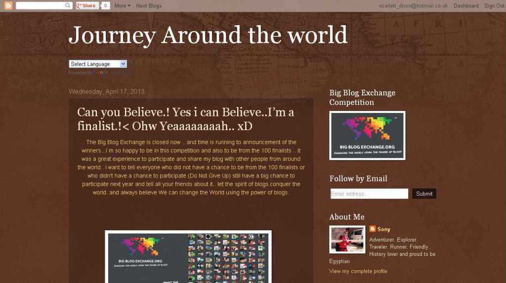 Journey Around the world - Can you Believe.! Yes i can Believe..I'm a finalist.!- Ohw Yeaaaaaaaah.. xD