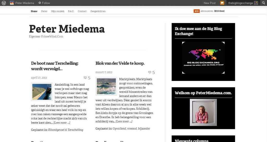 Peter Miedema - Eigenaar FrisseWind.Com