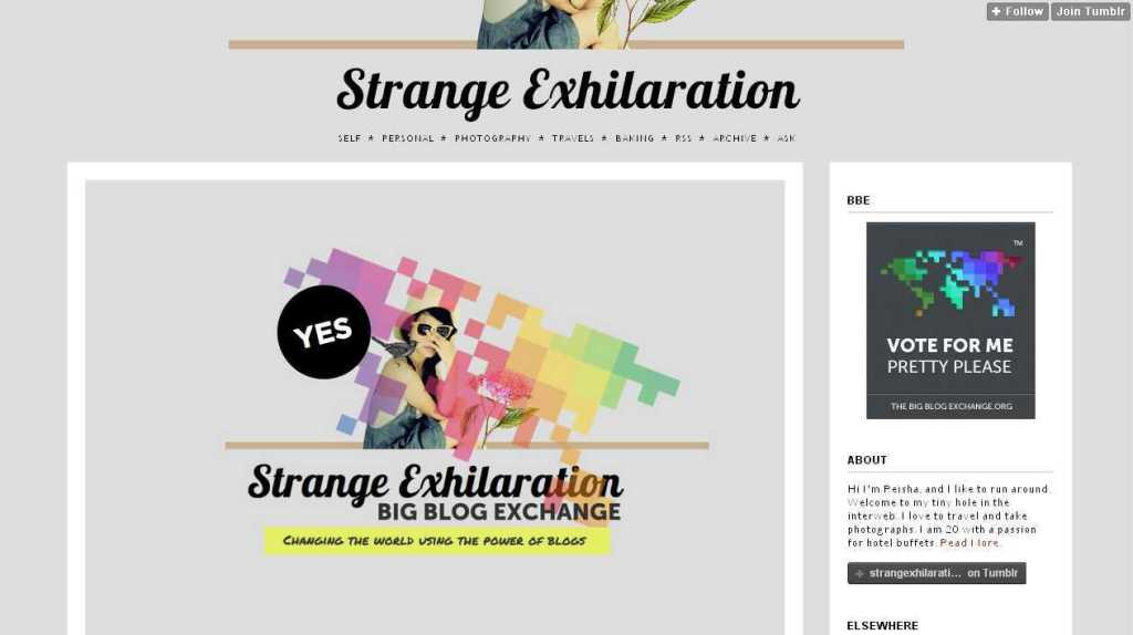 Strange Exhilaration
