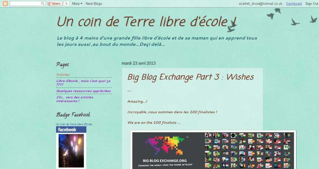 Un coin de Terre libre d'école !- Big Blog Exchange Part 3 - Wishes ...
