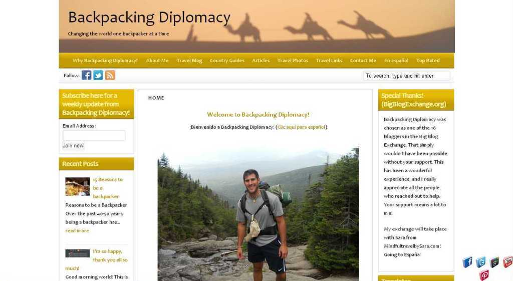 Home - Backpacking Diplomacy