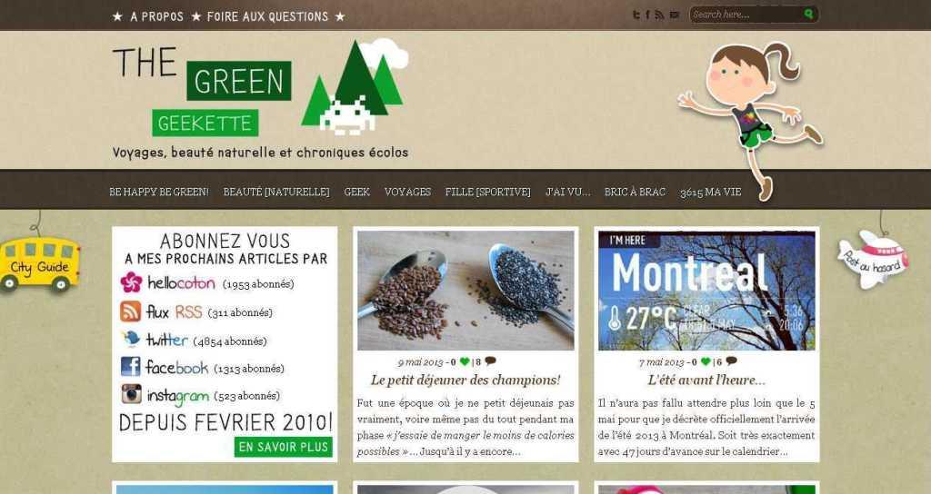 The Green Geekette - Blog Montréal - Beauté, Bio, Voyages, Geek