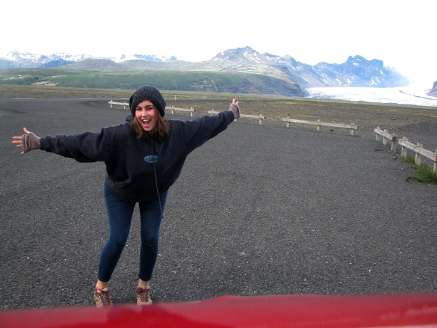 Ali karp visiting Glacier