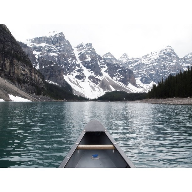 Canoed over Moraine Lake