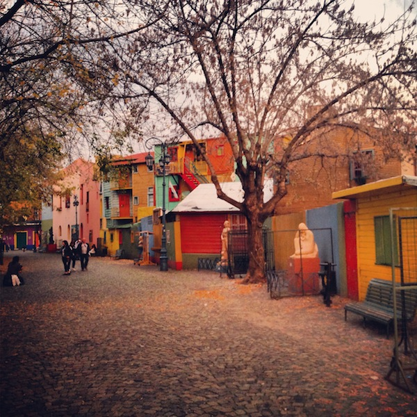Colourful buildings in Caminito in La Boca