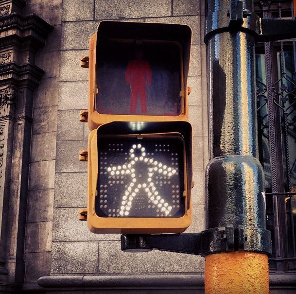 dance crossing street