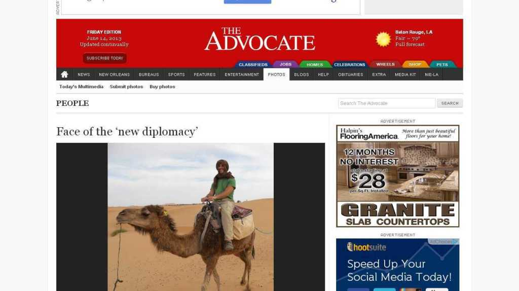 Face of the 'new diplomacy' - People - The Advocate — Baton Rouge, LA