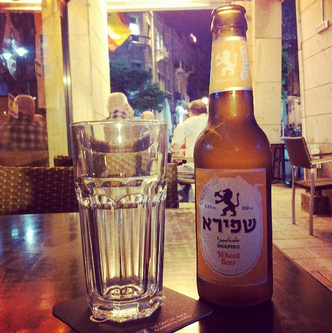 last night Israel - local beer