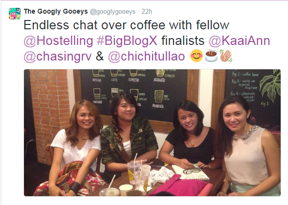 BBE Finalists coffee meet up