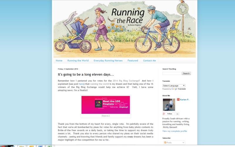 Karien running the race