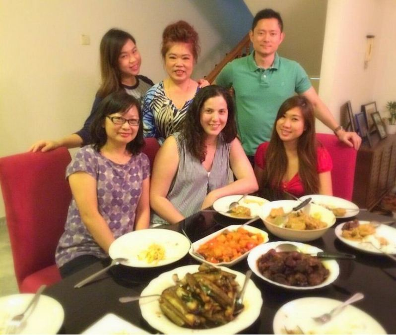 Belen with Vincents wife and sister