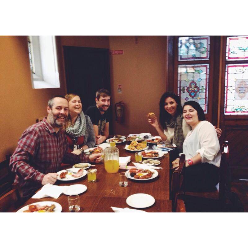 Breakfast with Zaz and the team in Ireland