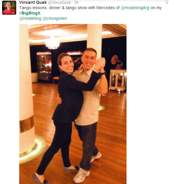 Dancing with Mercedes tweet - Vincent