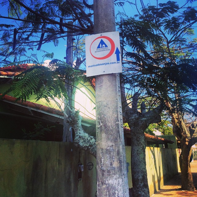 Hostel sign Rio
