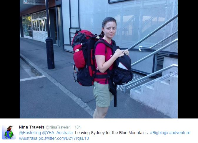 leaving for blue mountains, nina