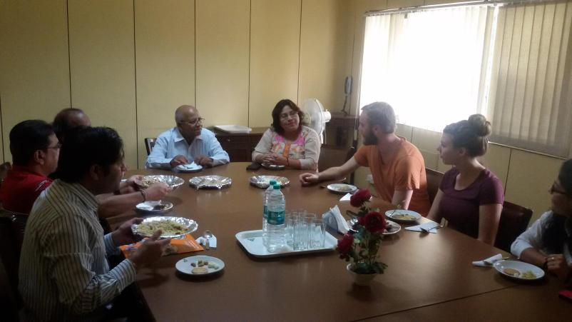 Logan meeting with YHA India team