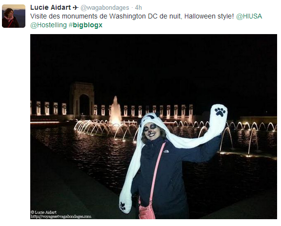 LUCIE HALLOWEEN IN DC MONUMENT TWEET