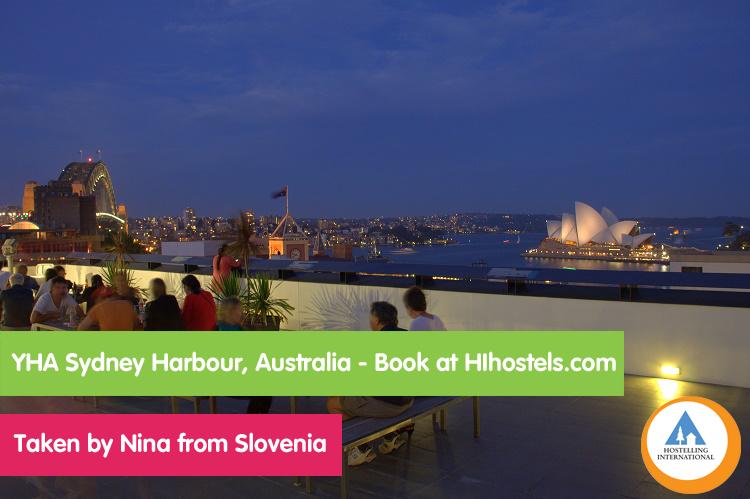 Nina, Australia - Sydney Harbour hostel view