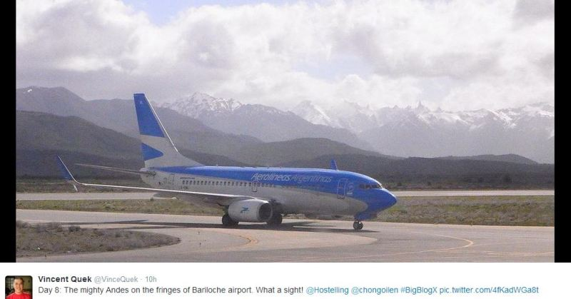 Plane and andes bariloche airport