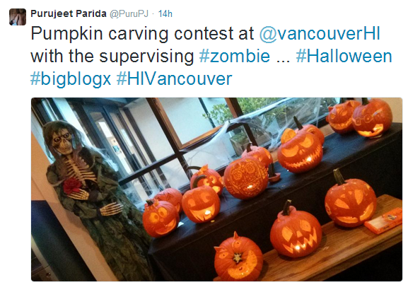 Pumpkin carving contest
