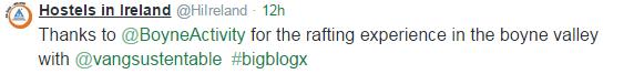 Rafting tweet