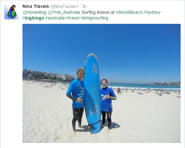 Surfing in Sydney