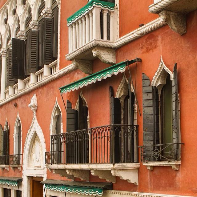 Venice orange buildings