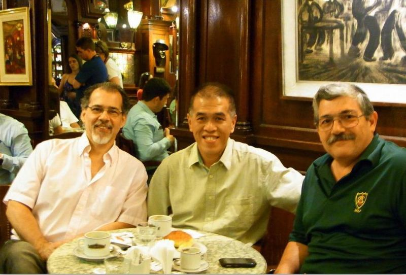 Vincent with Belens dad and friend